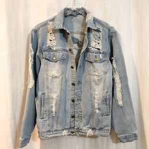 Destroyed jean jacket